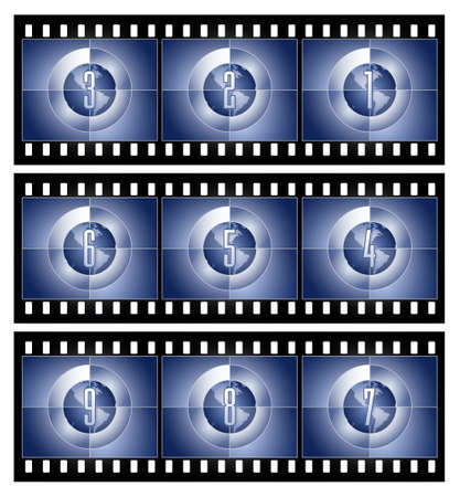 Film Countdown - Globe series 写真素材