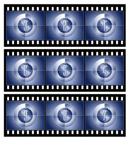 Film Countdown - Globe series Stock Photo