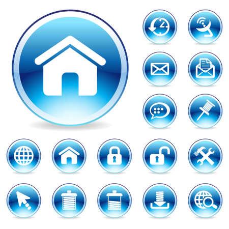 Glossy Web icon Stock Photo