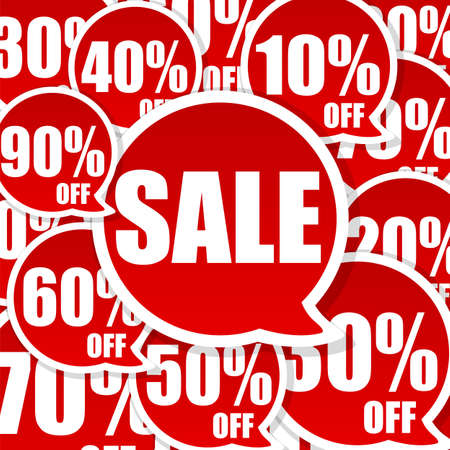 Crazy Sale Advertisement background with great discount Stock Photo - 6699893