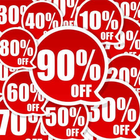 Crazy Sale Advertisement background with great discount Stock Photo - 6699889