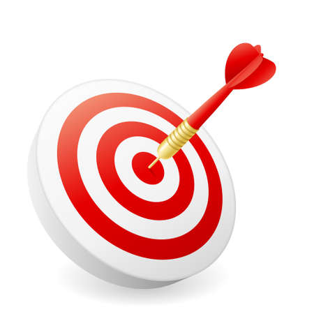Business Success Concept - dart hitting target Stock Photo