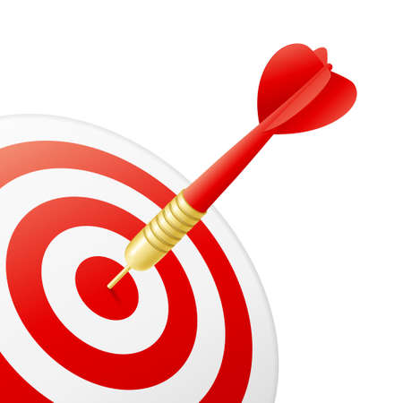 eye red: Business Success Concept - dart hitting target Stock Photo