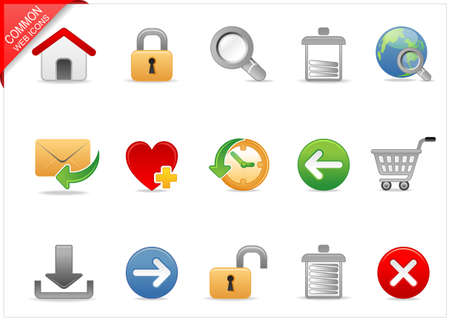 Universal Web icons 1 Stock Photo