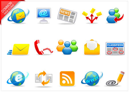Universal Web icons 3 Stock Photo