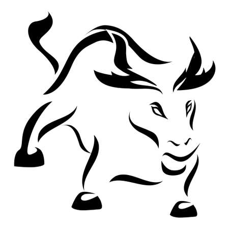 finanical: Angry Bull - black version