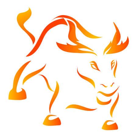 Wütend Bull - Flammenstiles  Lizenzfreie Bilder
