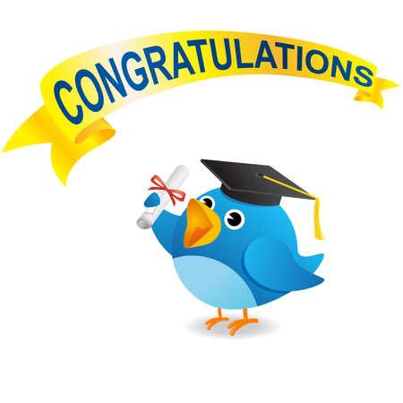degrees: Twitter bird Graduate