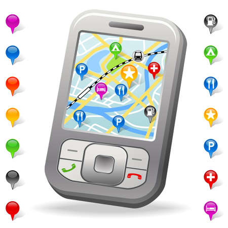 Stadtplan auf Handy