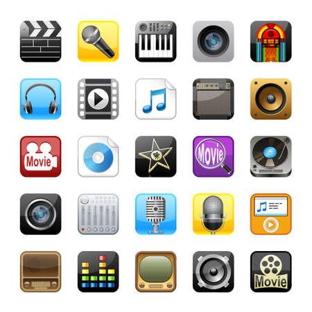 Multimedia icons photo