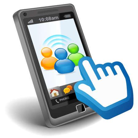 Soziale Netzwerk auf Smartphone