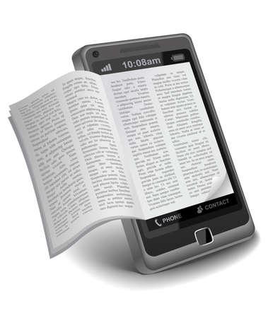 スマート フォン上で電子ブック