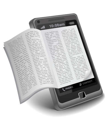 the reader: ebook on Smartphone
