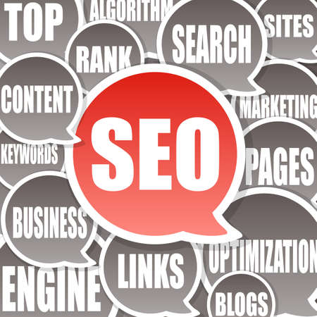 search result: SEO Background - Search engine optimization  Stock Photo