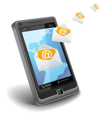 E-mail on cell phone Stock Photo - 9501801