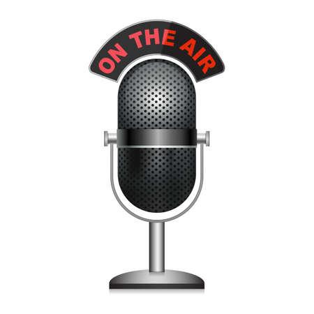 Mikrofon - on air Standard-Bild - 9557037