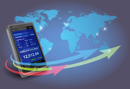 Financial apps on Smartphone Stock Photo - 9769267