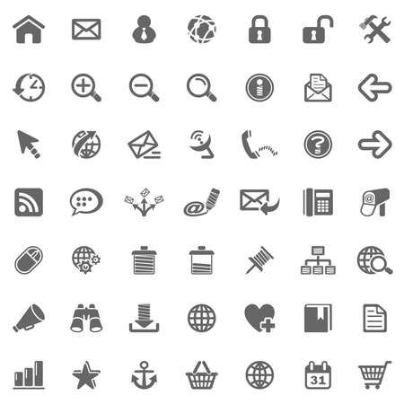 email security: Website Internet icons Stock Photo