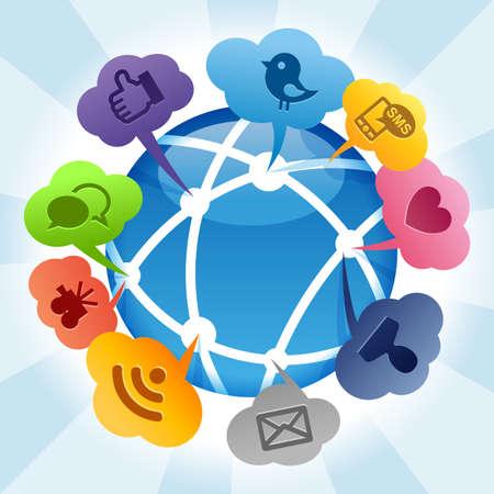internet love: Social media concept Stock Photo
