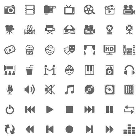 icone: Icone dei media Archivio Fotografico