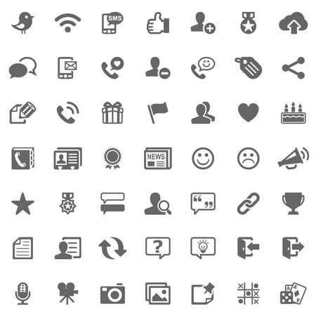 Social media icons 写真素材