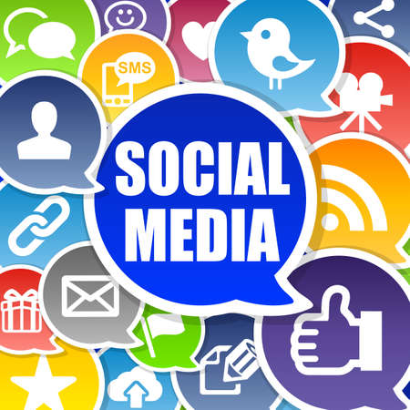 Social Media Background with Speech Bubbles Stock Photo - 12426119