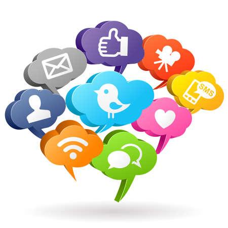 ソーシャル メディアのスピーチの泡