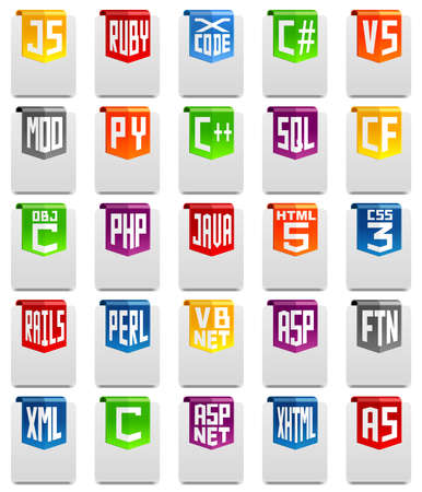 html 5: Programming language icons