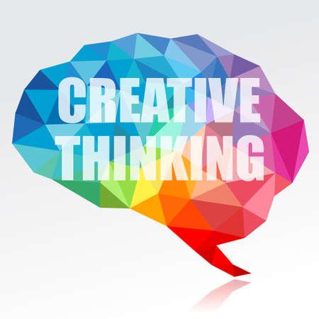 pensamiento creativo: El pensamiento creativo Foto de archivo