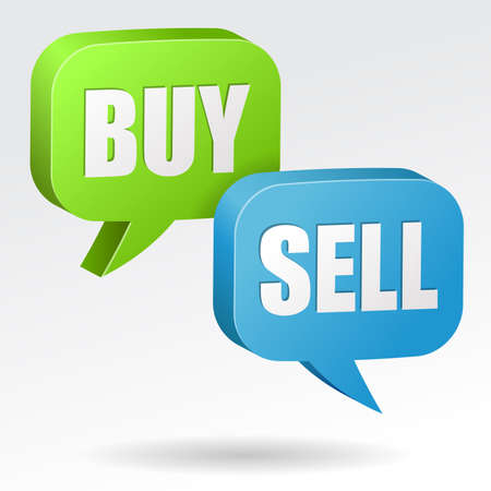 sell: Buy and Sell Speech Bubble