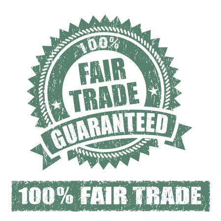 fairtrade: Fair Trade Rubber Stamp Stock Photo