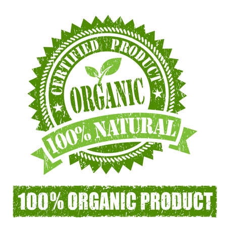 Biologisch product Rubber Stamp Stockfoto