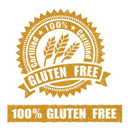 Gluten Free Rubber Stamp Standard-Bild - 39712299