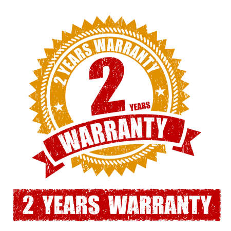 2 years: 2 Years Warranty Rubber Stamp Stock Photo