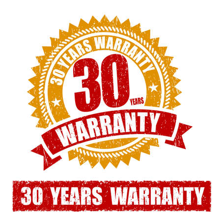 30 years: 30 Years Warranty Rubber Stamp