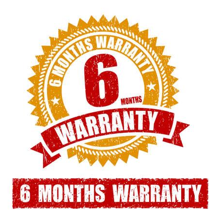 6 Months Warranty Rubber Stamp