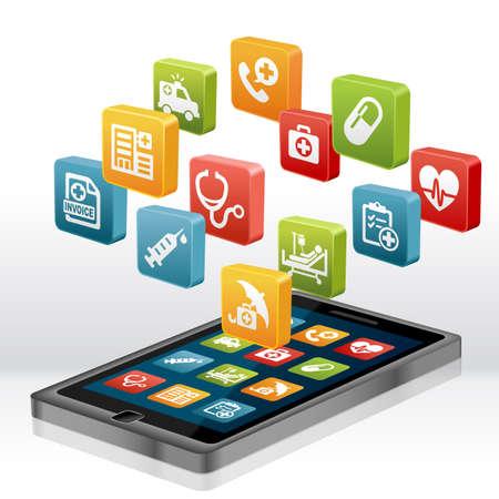 Gezondheidszorg en medische toepassing op Smartphone