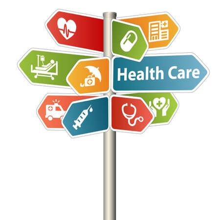Health care and Medical Sign Фото со стока - 40127735