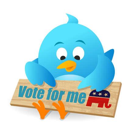 american media: Vote for Republican Stock Photo