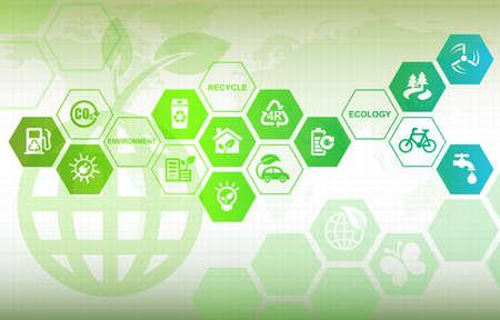 Eco background Standard-Bild