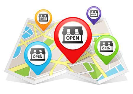 Shop Kaartwijzer Locatie Bestemming op de kaart