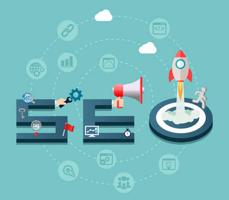 keywords link: SEO Search Engine Optimization Design Concept Background