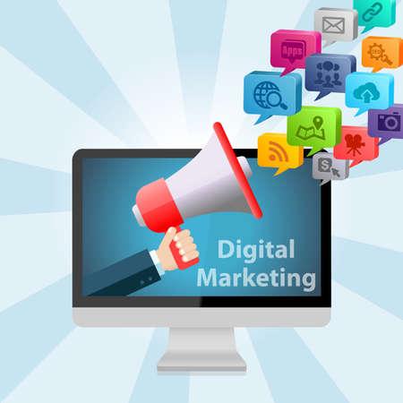 marketing concept: Digital Marketing Design Concept Background