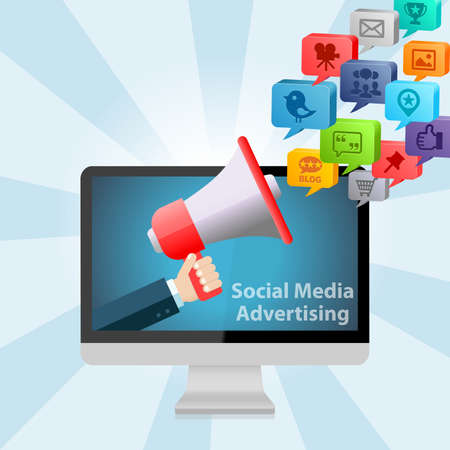 Social Media Advertising Marketing Design Concept Background