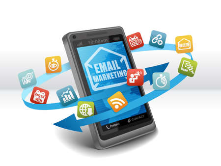 sweepstake: Email Marketing Advertising Strategy on Smartphone