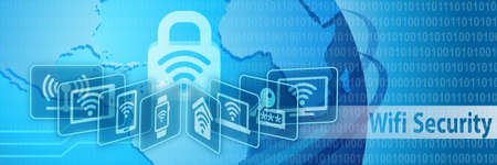 wifi icon: Wifi Security Protection Banner