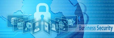 Business Security Schutz Banner Standard-Bild - 44767206