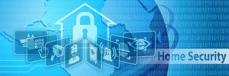 Home Security Schutz Banner Lizenzfreie Bilder