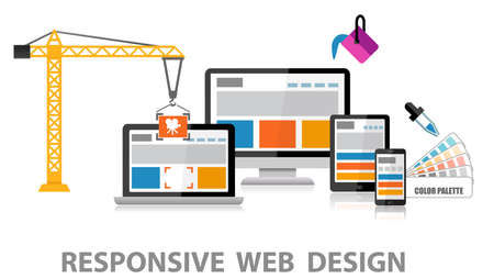 web design company: Responsive Web Design Stock Photo
