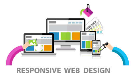 web: Responsive Web Design Stock Photo